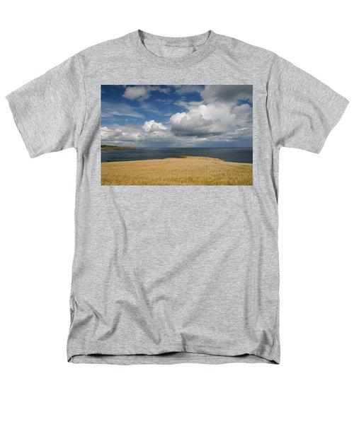 Men's T-Shirt  (Regular Fit) featuring the photograph Scottish Coastal Wheatfield by Jeremy Voisey