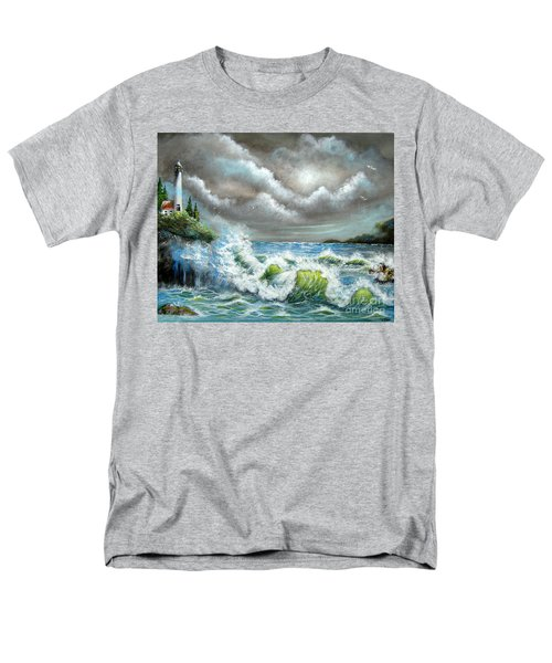Men's T-Shirt  (Regular Fit) featuring the painting Sea Of Smiling Faces by Patrice Torrillo