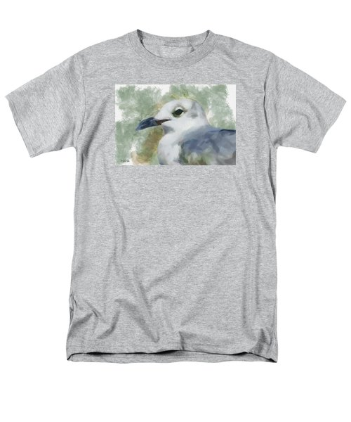 Men's T-Shirt  (Regular Fit) featuring the painting Seagull Closeup by Greg Collins