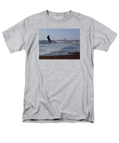 Men's T-Shirt  (Regular Fit) featuring the photograph Seagull by Robert Nickologianis