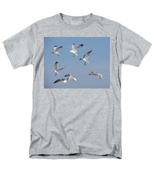 Seagulls See A Cracker Men's T-Shirt  (Regular Fit) by Ellen Meakin