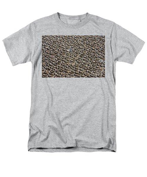 Semipalmated Sandpipers Sleeping Men's T-Shirt  (Regular Fit) by Yva Momatiuk John Eastcott