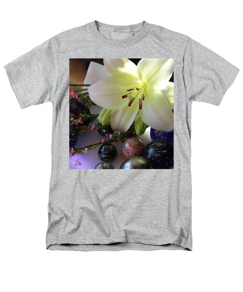 Men's T-Shirt  (Regular Fit) featuring the photograph Send The Light Lily With Marbles by Bonnie Willis