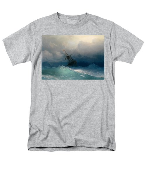 Ship On Stormy Seas Men's T-Shirt  (Regular Fit) by Ivan Konstantinovich Aivazovsky