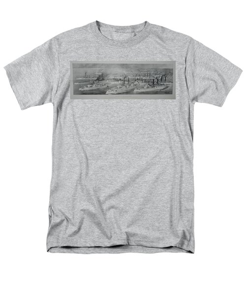 Men's T-Shirt  (Regular Fit) featuring the digital art Ships by Cathy Anderson