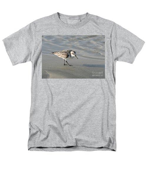 Shore Bird On Ocean Beach Men's T-Shirt  (Regular Fit) by Kevin McCarthy