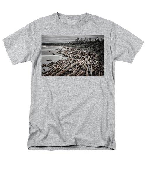 Shoved Ashore Driftwood  Men's T-Shirt  (Regular Fit) by Roxy Hurtubise