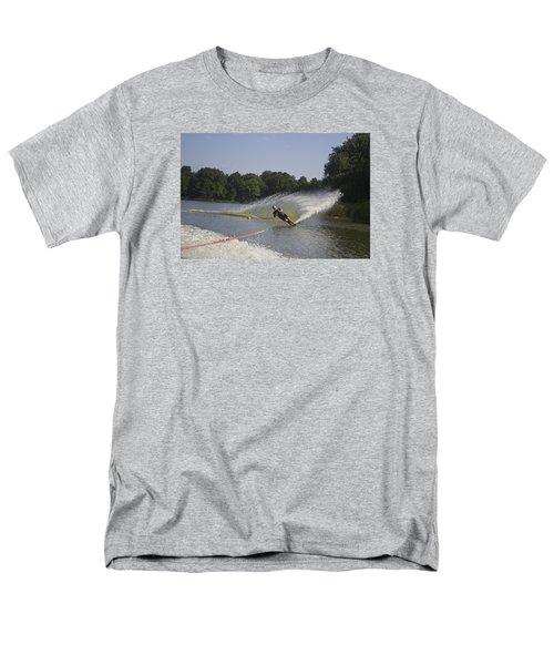 Slalom Waterskiing Men's T-Shirt  (Regular Fit) by Venetia Featherstone-Witty