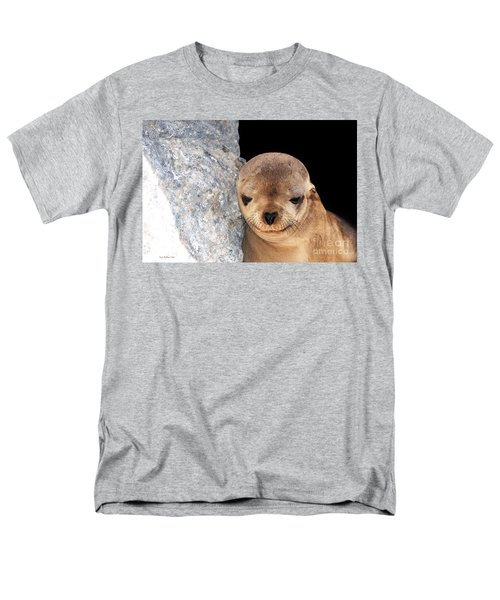 Sleepy Baby Sea Lion Men's T-Shirt  (Regular Fit) by Susan Wiedmann
