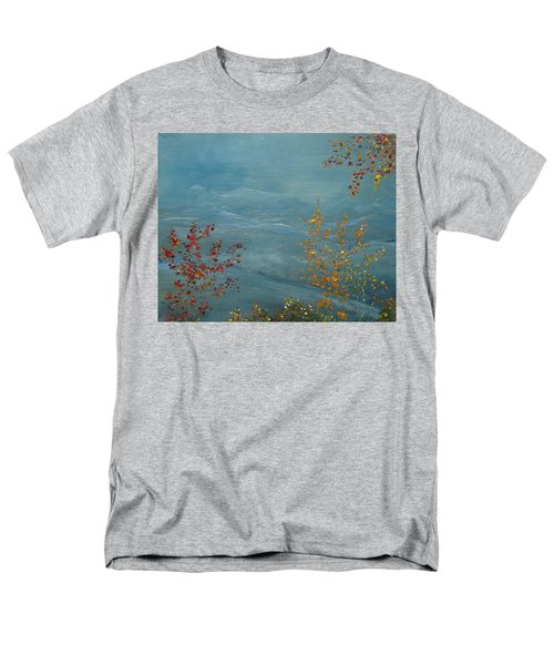 Men's T-Shirt  (Regular Fit) featuring the painting Smoky Mountains In Autumn by Judith Rhue