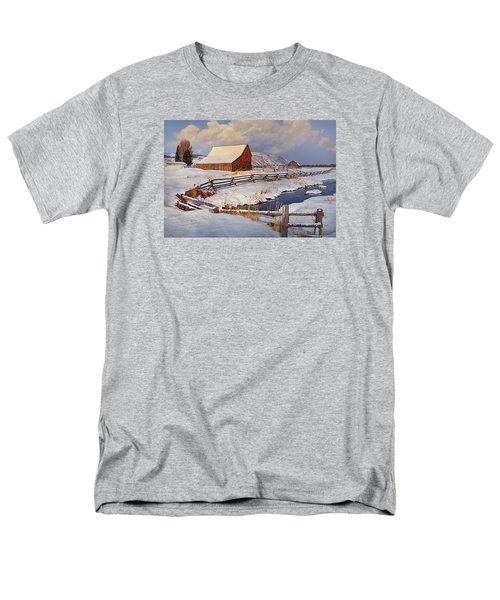 Snowed In Men's T-Shirt  (Regular Fit) by Priscilla Burgers