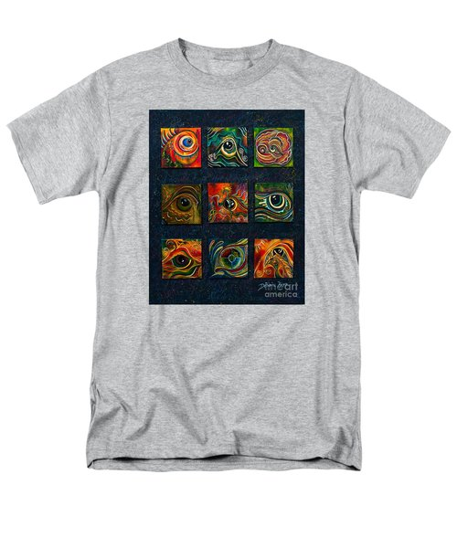 Men's T-Shirt  (Regular Fit) featuring the painting Spirit Eye Collection I by Deborha Kerr