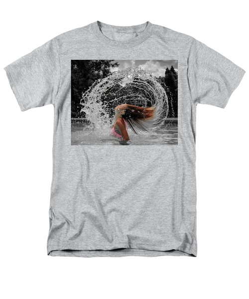 Hair Flip Splash Men's T-Shirt  (Regular Fit) by Brian Caldwell