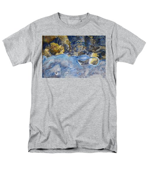 Men's T-Shirt  (Regular Fit) featuring the photograph Spring Drawing A Line In The Ice  by Brian Boyle