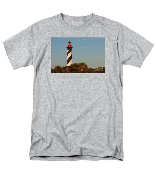 St. Augustine Lighthouse #3 Men's T-Shirt  (Regular Fit) by Paul Rebmann