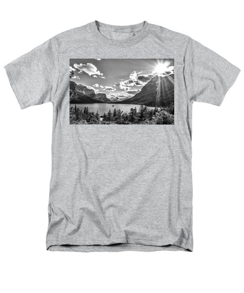 St. Mary Lake Bw Men's T-Shirt  (Regular Fit) by Aaron Aldrich