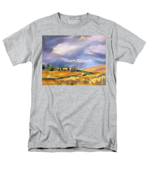 Men's T-Shirt  (Regular Fit) featuring the painting Storm Colors by Rae Andrews