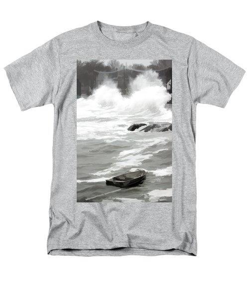 Stormy Waves Pound The Shoreline Men's T-Shirt  (Regular Fit) by Jeff Folger