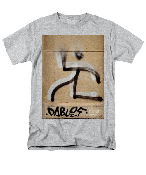 Men's T-Shirt  (Regular Fit) featuring the photograph Street Art 'dablos' Graffiti In Bucharest Romania  by Imran Ahmed
