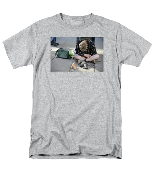 Men's T-Shirt  (Regular Fit) featuring the photograph Street People - A Touch Of Humanity 8 by Teo SITCHET-KANDA