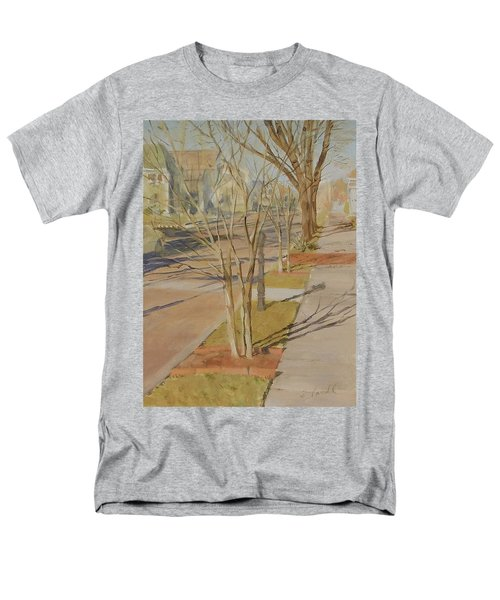 Street Trees With Winter Shadows Men's T-Shirt  (Regular Fit)