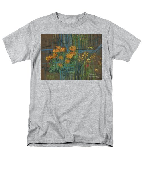 Men's T-Shirt  (Regular Fit) featuring the painting Summer Flowers by Donald Maier