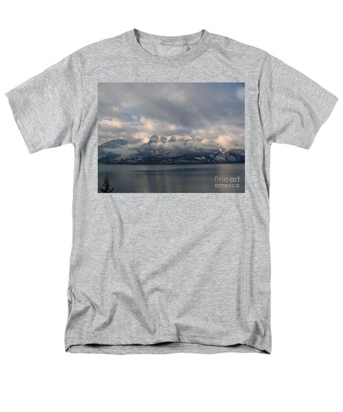 Sun On The Mountains Men's T-Shirt  (Regular Fit) by Leone Lund
