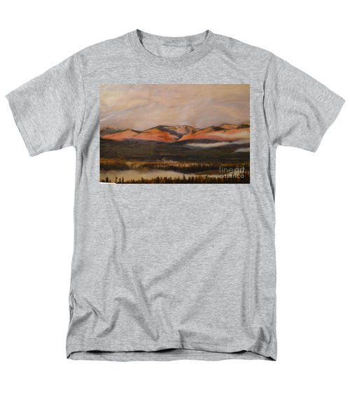 Men's T-Shirt  (Regular Fit) featuring the painting Sunrise On The Ibex Valley by Brian Boyle