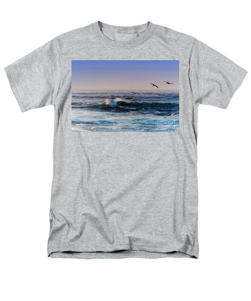 Men's T-Shirt  (Regular Fit) featuring the photograph Sunset Fly by Kathy Bassett