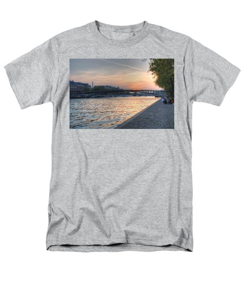 Sunset On The Seine Men's T-Shirt  (Regular Fit) by Jennifer Ancker
