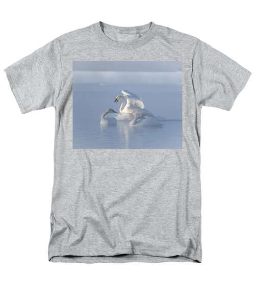 Men's T-Shirt  (Regular Fit) featuring the photograph Trumpeter Swans - Three's Company by Patti Deters
