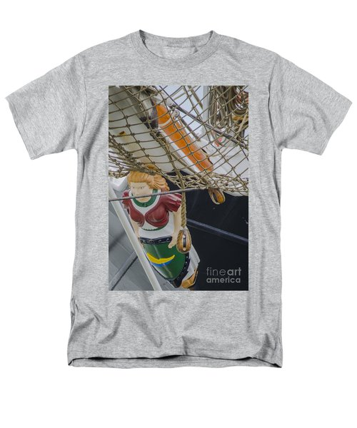 Men's T-Shirt  (Regular Fit) featuring the photograph Tall Ship Gunilla Masthead by Dale Powell