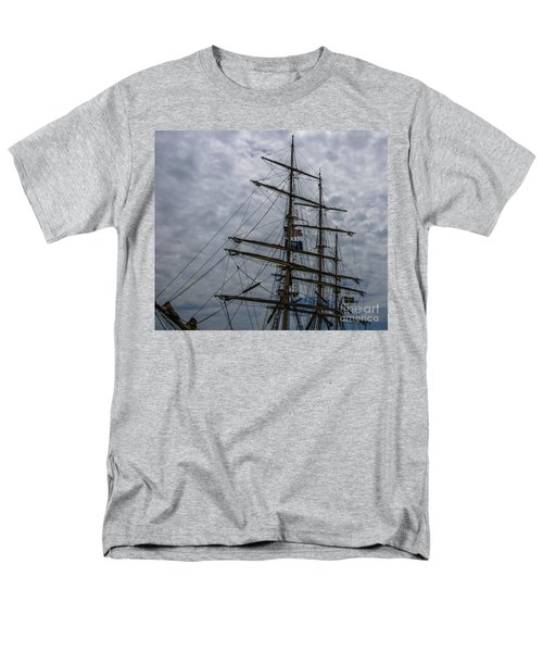 Men's T-Shirt  (Regular Fit) featuring the photograph Tall Ship Mast by Dale Powell