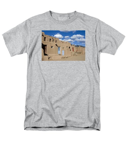 Taos Pueblo Men's T-Shirt  (Regular Fit) by Elvira Butler