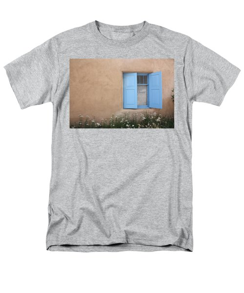Men's T-Shirt  (Regular Fit) featuring the photograph Taos Window Vi by Lanita Williams