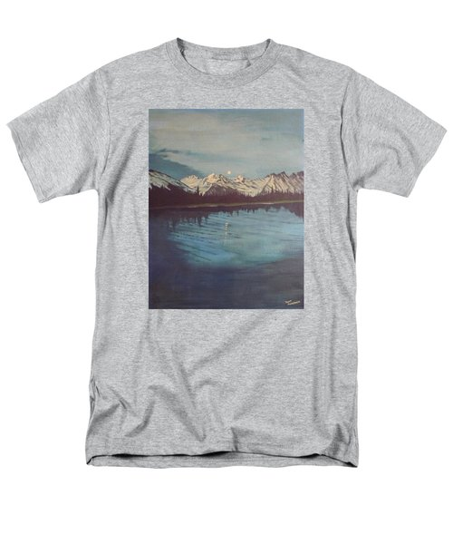 Men's T-Shirt  (Regular Fit) featuring the painting Telequana Lk Ak by Terry Frederick