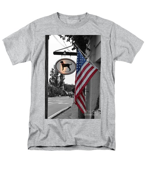 Men's T-Shirt  (Regular Fit) featuring the photograph The Black Dog Store by Angela DeFrias
