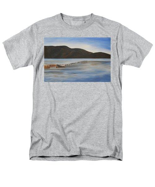 Men's T-Shirt  (Regular Fit) featuring the painting The Calm Water Of Akyaka by Tracey Harrington-Simpson