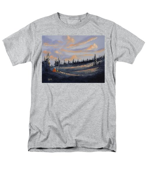 Men's T-Shirt  (Regular Fit) featuring the painting The Days End by Richard Faulkner