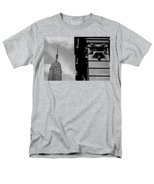 Men's T-Shirt  (Regular Fit) featuring the photograph The Empire State Building by Steven Macanka