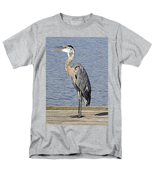 The Great Blue Heron Photo Men's T-Shirt  (Regular Fit) by Verana Stark