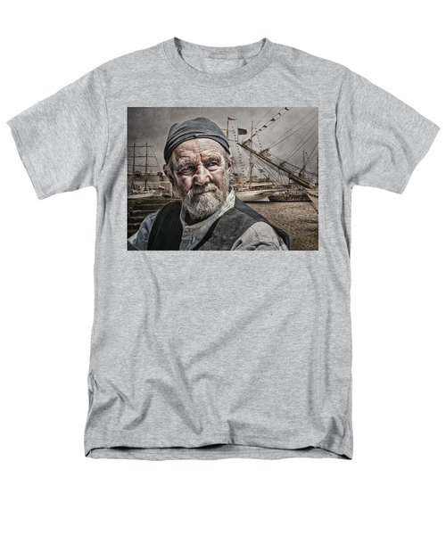 Men's T-Shirt  (Regular Fit) featuring the photograph The Old Salt by Brian Tarr