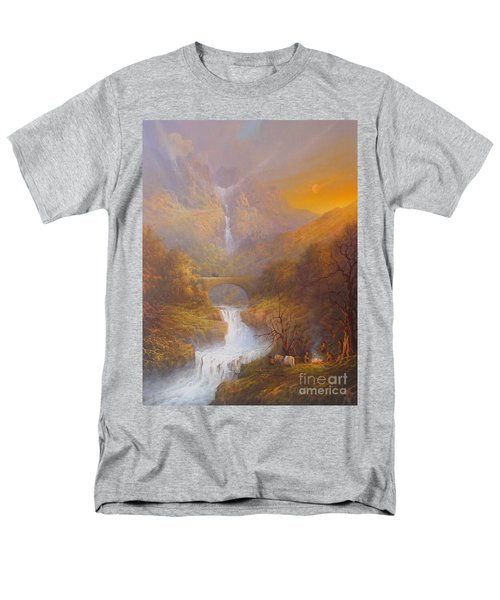 The Road To Rivendell The Lord Of The Rings Tolkien Inspired Art  Men's T-Shirt  (Regular Fit) by Joe  Gilronan