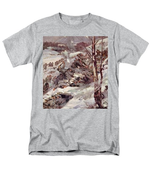The Russians Fighting Their Way Over The Carpathians Men's T-Shirt  (Regular Fit) by Cyrus Cuneo