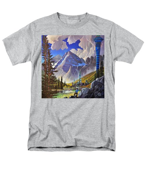 Men's T-Shirt  (Regular Fit) featuring the painting The Three Towers by Art James West