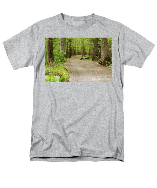 Men's T-Shirt  (Regular Fit) featuring the photograph The Wooden Path by Patrick Shupert