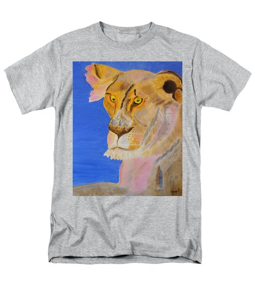 Men's T-Shirt  (Regular Fit) featuring the painting Thoughts Of A Feline by Meryl Goudey