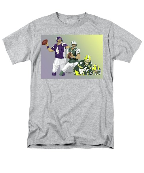 Men's T-Shirt  (Regular Fit) featuring the digital art Three Stages Of Bret Favre by Thomas J Herring