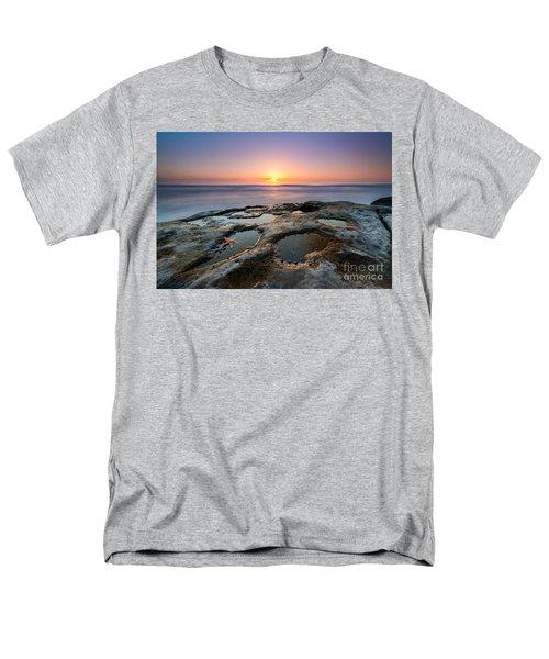 Tide Pool Sunset Men's T-Shirt  (Regular Fit) by Michael Ver Sprill