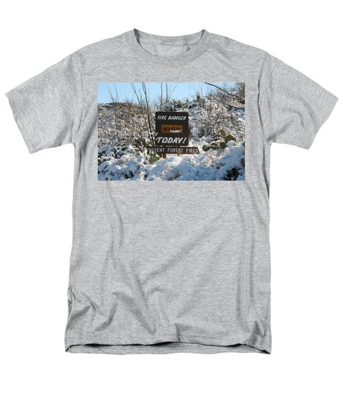 Men's T-Shirt  (Regular Fit) featuring the photograph Time To Change The Sign by David S Reynolds